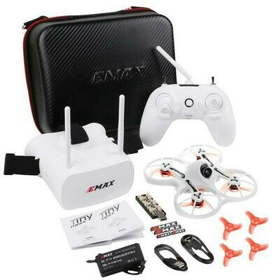 EMAX Tinyhawk RTF Micro Indoor Racing Drone with FPV Goggles and Controller