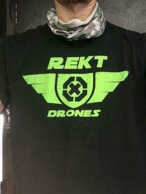Rekt Drones T Shirt (Black) Large