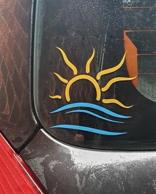 The Naturist Symbol sticker Large