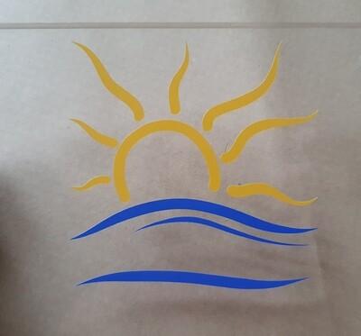 The Naturist Symbol sticker Medium