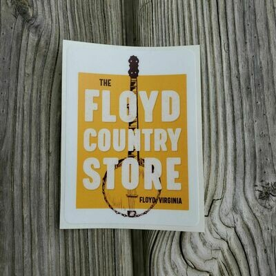 Floyd Country Store Banjo Sticker
