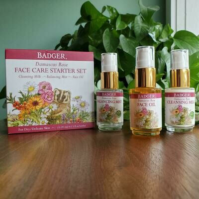 Badger Rose Face Care Starter Kit