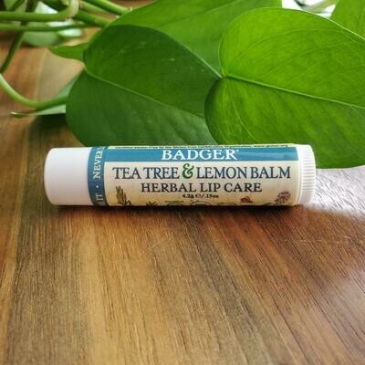Badger Tea Tree and Lemon Balm Herbal Lip Care