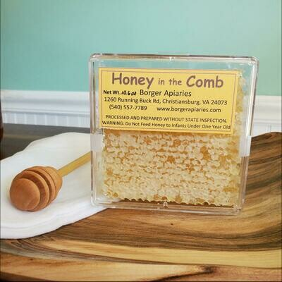 Borger Apiaries Honey in the Comb