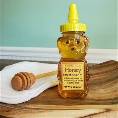 Borger Apiaries Honey Bear 8 oz