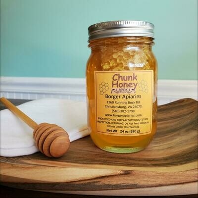 Borger Apiaries Chunk Honey 24 oz