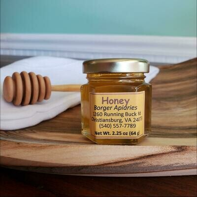 Borger Apiaries Honey Hexagonal Jar 2.25 oz