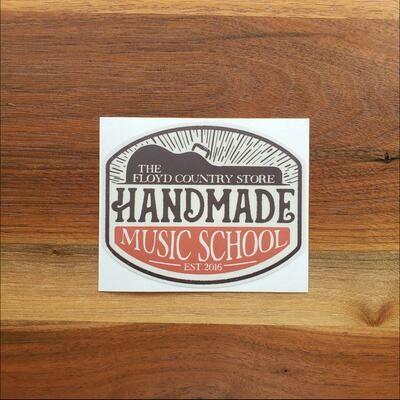 Handmade Music School Sticker
