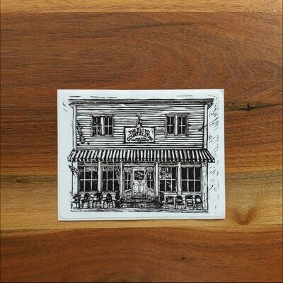 Floyd Country Store Woodblock Sticker