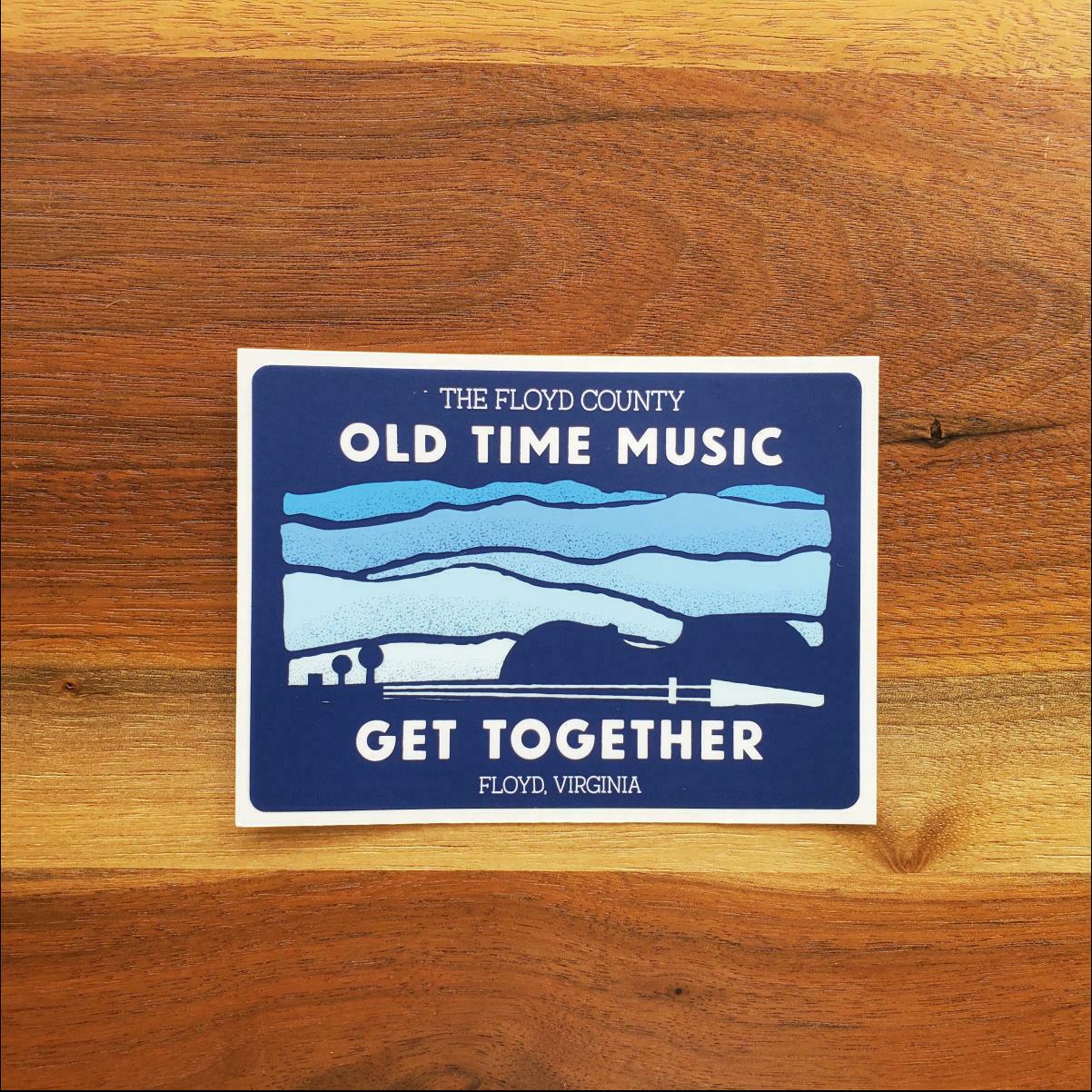 Old Time Music Get Together Sticker