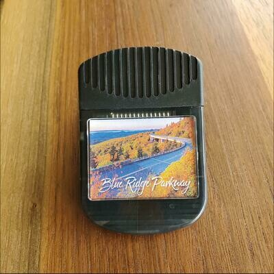 Blue Ridge Parkway Fall Road Magnetic Clip