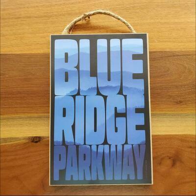 Blue Ridge Parkway Overlook Wooden Sign