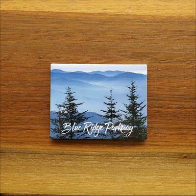 Blue Ridge Parkway Pine Trees Magnet