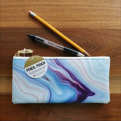 Peter Pauper Press Blue Agate Pencil Pouch