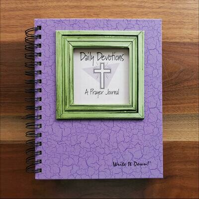 Journals Unlimited - Daily Devotions A Prayer Journal - Eggplant