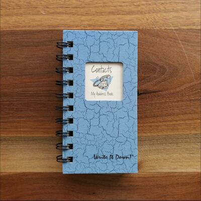 Journals Unlimited - Contacts, My Address Book - Light Blue