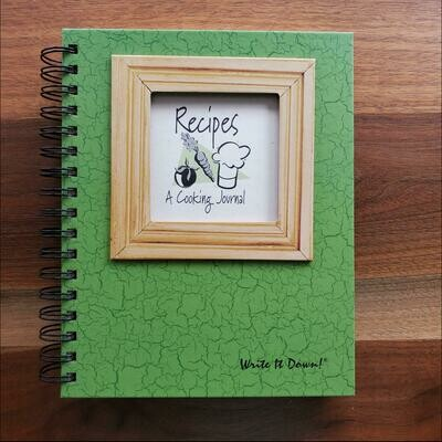 Journals Unlimited - Recipes A Cooking Journal - Avocado Green