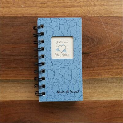 Journals Unlimited - Gratitude & Acts of Kindness Mini Journal - Light Blue
