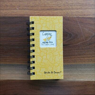 Journals Unlimited - Camping, A Campers Mini Journal - Sunset Yellow