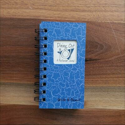 Journals Unlimited - Dining Out, A Restaurant Mini Journal- Blue