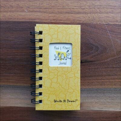 Journals Unlimited - Food & Fitness Mini Journal - Sunset Yellow