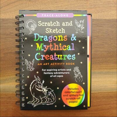 Peter Pauper Press Trace-Along Scratch and Sketch Dragons & Mythical Creatures