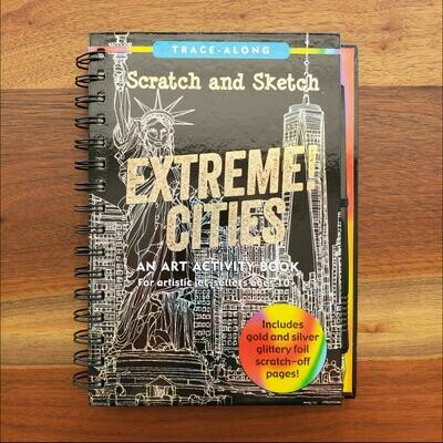 Peter Pauper Press Trace-Along Scratch and Sketch Extreme Cities