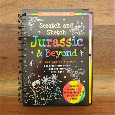 Peter Pauper Press Trace-Along Scratch and Sketch Jurassic & Beyond