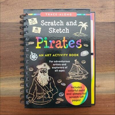 Peter Pauper Press Trace-Along Scratch and Sketch Pirates