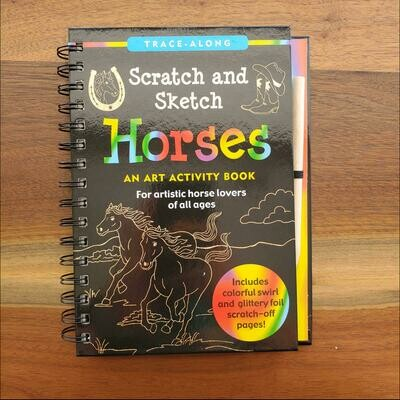 Peter Pauper Press Trace-Along Scratch and Sketch Horses
