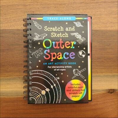 Peter Pauper Press Trace-Along Scratch and Sketch Outer Space
