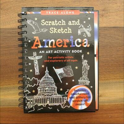 Peter Pauper Press Trace-Along Scratch and Sketch America