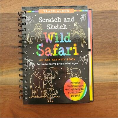 Peter Pauper Press Trace-Along Scratch and Sketch Wild Safari