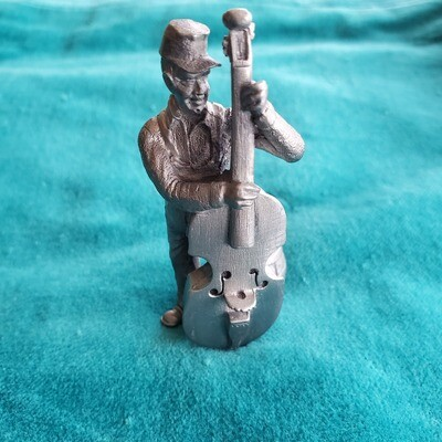 Langston Pewter Bass Player Statue