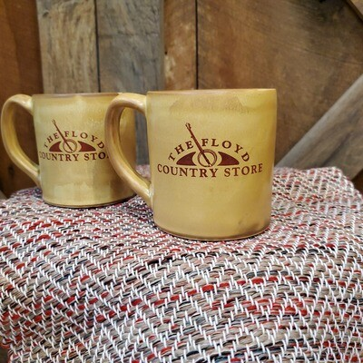 Hona Leigh Ceramics FCS Logo Mug Yellow/Gold