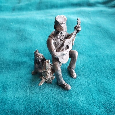 Langston Pewter Guitar Player Statue
