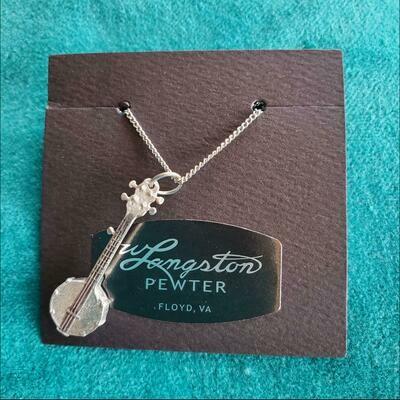 Langston Pewter Banjo Necklace
