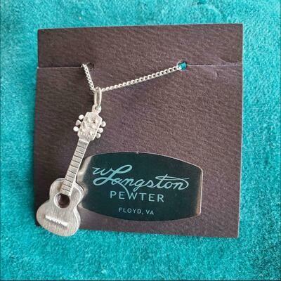 Langston Pewter Guitar Necklace