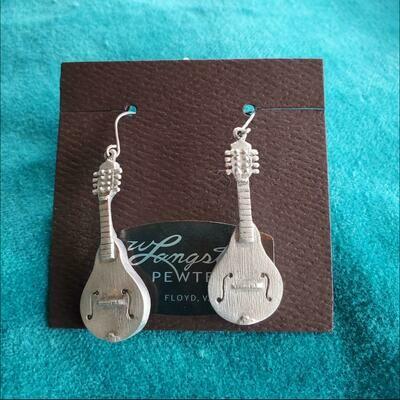 Langston Pewter Mandolin Earrings