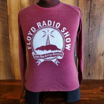 Floyd Radio Show Legacy Women's Long Sleeve Heather Burgundy