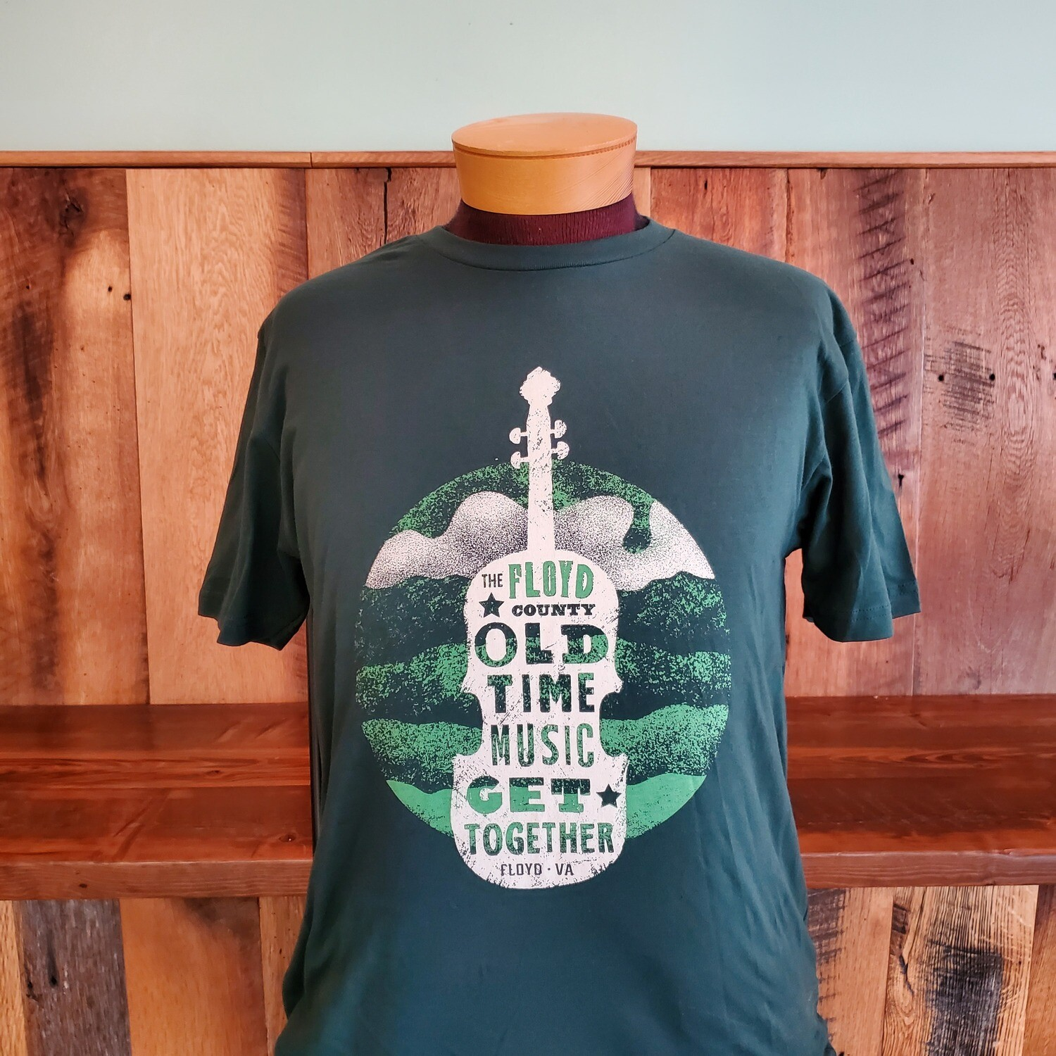 Floyd County Old Time Music Get Together Short Sleeve Forest Green