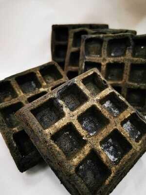 Mini Waffle Black Charcoal (6pcs)
