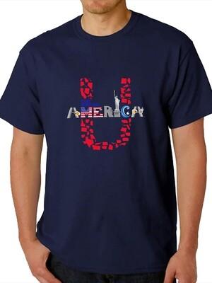 Unisex Crew Neck T-Shirt Blue