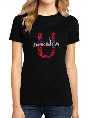 Women's Crew Neck Black T-Shirt