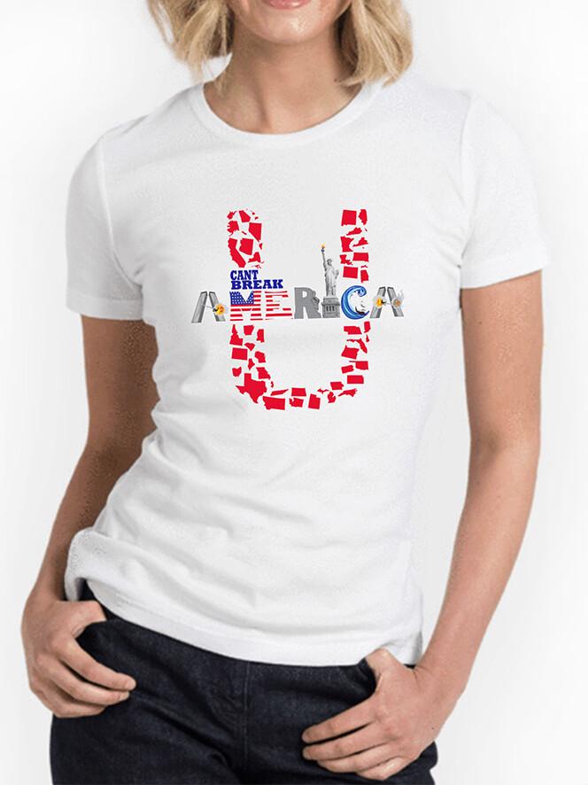 Women's Crew Neck White T-Shirt