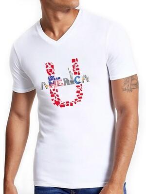 Unisex V-Neck White T-Shirt