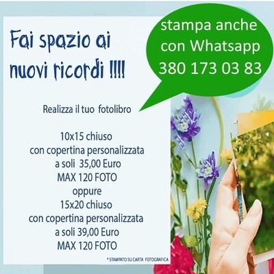 Foto libro 10x15 120 Foto o 15x20 120 foto