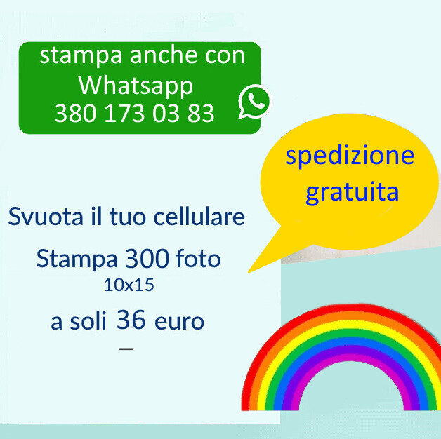 Stampa 300 Foto 10x15 - spese di spedizione gratuite