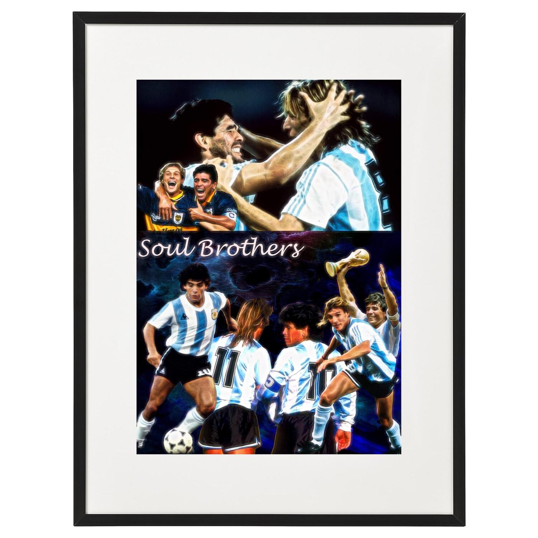 Caniggia & Maradona A3 Artwork Print