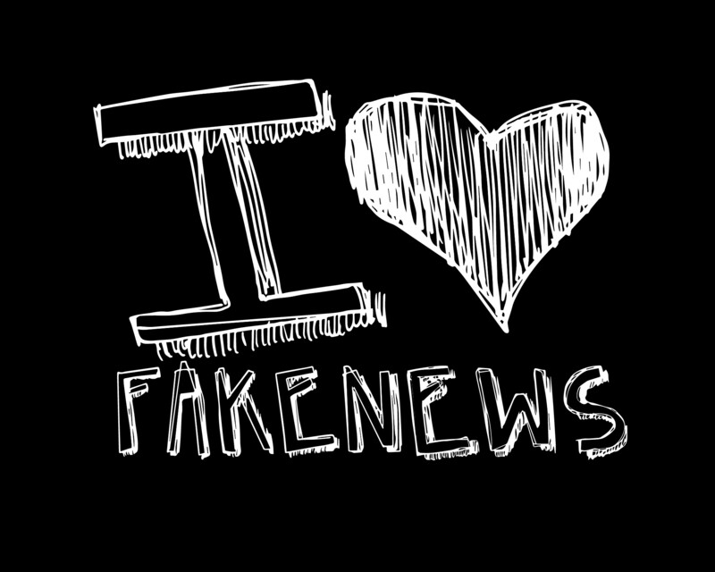 I LOVE FAKE NEWS - MASCHERINA A 3 STRATI COTONE E TNT AD USO CIVILE